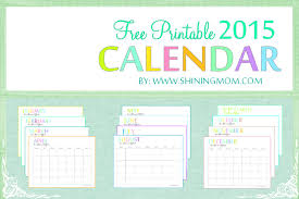 2015 monthly calendar free 2015 printable calendar by shiningmom com fun and colorful