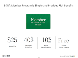 saupload BKS Barnes Noble BNs Member Program Is Simple And Provides Rich Benefits