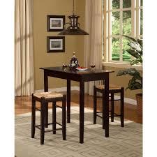 linon home decor tavern 3 piece brown bar table set