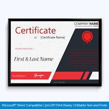 Corporate Certificate Template Award Certificate Corporate Award Word Layouts