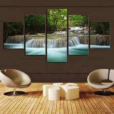 5 pcs waterfall painting canvas wall art picture home decoration living room canvas print painting  on home decor wall art au with 5 pcs waterfall painting canvas wall art picture home decoration