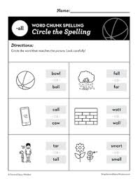 Word family worksheets are a great resource for teaching phonics to first and second graders. All Word Family Worksheets No Prep Chunk Spelling Phonics Worksheets Second Story Window