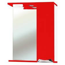 <b>Зеркало</b>-<b>шкаф Bellezza</b> Симона 60 красный, правый купить в ...