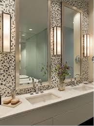 trendy mosaic tile bathroom photo in new york