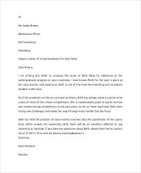 sample letter of recommendation for college student college recommendation letter sample template business