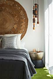 Hanging Rugs Wood Elements And A Beautiful Rug Hung On The Wall As A Headboard