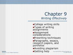 how to format and write the basic five paragraph essay writing to chapter 9 writing effectively college writing skills types of writing assignments assignment considerations prewriting techniques paragraphs