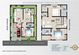 duplex house plans for 20x60 site great 30 40 site duplex house plan homes floor plans
