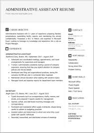 Administrative assistant resume sample inspires you with ideas and examples of what do you put in the objective, skills, responsibilities and duties. Administrative Assistant Resume Example Docx Free