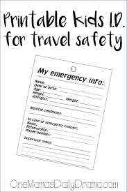 Emergency Card Template Emergency Contact Card Template Employee Identity Best Download