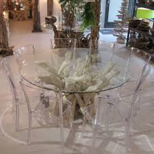 glass round dining table. Driftwood Round Dining Table With Or Without Glass Top By Doris