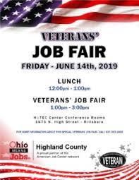 Flyer Jobs 2019 Veterans Job Fair Public Flyer Ohio Means Jobs