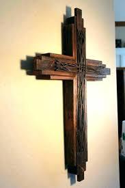 cross for wall decor decorative crosses wooden church sanctuary large