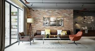 living rooms with exposed brick walls rh home designing com stage brick wall stage brick wall