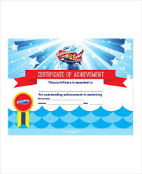 Swimming Certificate Template 5 Free Word Excel Pdf Documents