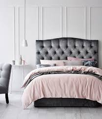 fanciful grey headboard bed oversized for king size wood luxury modern upholstered bedhead tufted bedroom idea frame uk bedside table double high