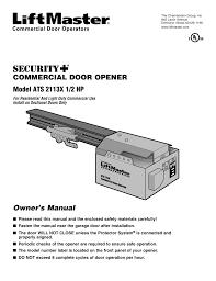 Light Duty Commercial Garage Door Opener Chamberlain Ats 2113x User Manual 32 Pages