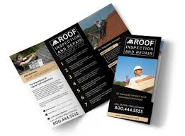Roof Inspection Tri Fold Brochure Template