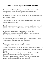 How To Make A Perfect Resume How To Write A Perfect Resume Resume For Study 95
