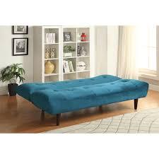 Teal Bedroom Furniture Coaster Furniture 500098 Transitional Velvet Sofa Bed In Teal