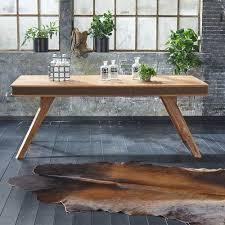 Ausziehbarer Esszimmer Tisch Aus Sheesham Massivholz Landhausstil