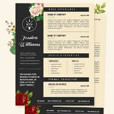 Flair Template Resume Cover Letter Template Vintage Flair Template Etsy