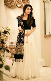 White Designer Outfits Black And Off White Lehenga Just Beautiful Indian Outfits