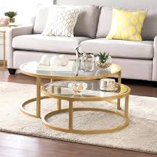 2 piece coffee table silver orchid grant glam nesting cocktail table set gold 2 nest coffee