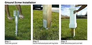 best way to set fence posts in concrete wooden installation installing cedar metal conc