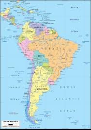 detailed clear large political map of south america  ezilon maps