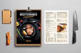 Steak Menu Design Mediterraneo Steakhouse Logo And Menu Design Design Work