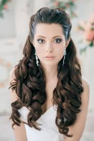 Bridal Hairstyle Down Women Medium Haircut