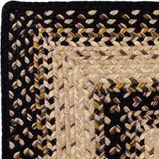black mist braided rug