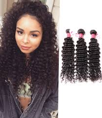 Hairstyles For Curly Hair 61 Stunning 24 Pcspack Brazilian Deep Curly Hair Weave R Grade Chochair
