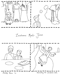 They can serve as a great take home activity. Zacchaeus Jesus Coloring Page Free Printable