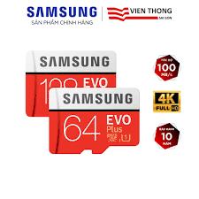 Thẻ nhớ microSD Samsung Evo Plus 32GB / 64GB / 128GB tốc độ upto 100MB/s  kèm Adapter (Bảo hành 10 năm) - Thẻ nhớ máy ảnh