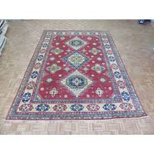 9 10 x 13 7 hand knotted rust red kazak oriental rug vegetable dyed