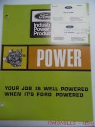 Details About 1969 Ford Power Products Industrial Engine Chart Catalog Brochure Vintage Vg