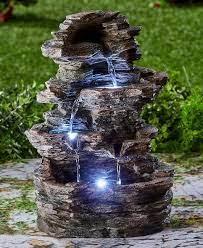 lighted water fountain outdoor indoor