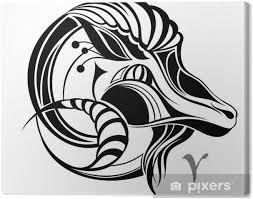 Obraz Beran Znamení Vektor Znamení Na Plátně