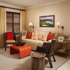 Orange Living Room Decor Chic Inspiration Orange And Brown Living Room Ideas 8 Room Wall