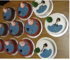 The baking of cake, the chocolate icing underneath; Funny Christmas Cakes With Santa On The Hot Tub Jpg Hi Res 720p Hd