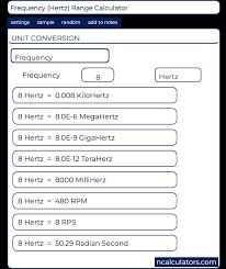 Hertz Conversion Chart Frequency Conversion Calculator