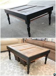 diy old door coffee table