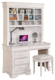 white desk with hutch. Acme Classique Computer Desk And Hutch In White Traditional With U