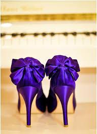 Plum Coloured Bridal Shoes