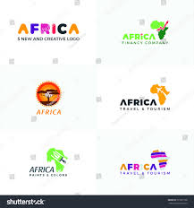Africa Logo Africa Map Logo Template Stock Vector Royalty Free
