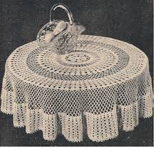 18 easy crochet lace tablecloth patterns guide patterns circular tablecloths circular occasional table cloths