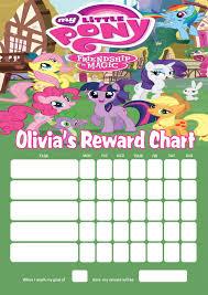 Personalised My Little Pony Reward Chart Adding Photo Option Available