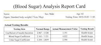 Blood Sugar Test Results Chart Sugar Test Chart Luisviol Co
